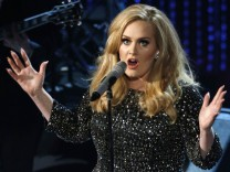 British singer Adele performs at the 85th Academy Awards in Hollywood