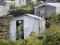 Notlager in Mugunga in der Demokratischen Republik Kongo.