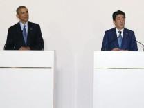 Barack Obama und Shinzo Abe