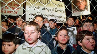 CHILDREN OF COLONY DIGNITY DURING NIGHT VIGIL