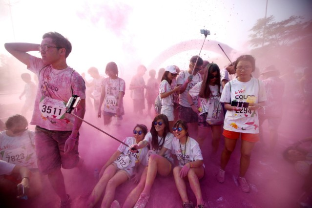 Color Me Run festival in Hanoi