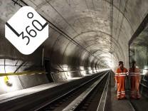 Vor der feierlichen Eröffnung des Gotthard-Basistunnels; Gotthard