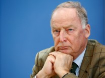 Gauland of the anti-immigration party AfD is  pictured during a news conference in Berlin