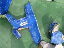 Recovered debris of the EgyptAir jet that crashed in the Mediterranean Sea are seen in this still image taken from video