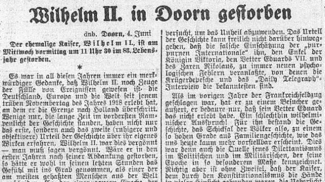 Erster Weltkrieg Deutschlands letzter Kaiser