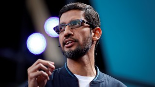 Google CEO Sundar Pichai speaks during the Google I/O 2016 developers conference in Mountain View, California