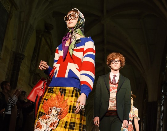 Gucci Fashion Show at Westminster Abbey