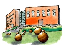 Universitäten in Bayern Illustrationen Karte Zeichnungen Poi digital online