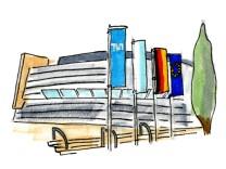 Universitäten in Bayern Illustrationen Karte Zeichnungen Poi digital online