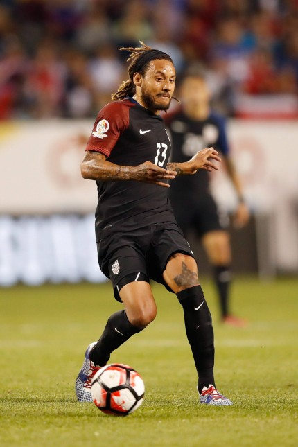 United States midfielder Jermaine Jones 13 kicks the ball during the first half of a 2016 Copa Ame