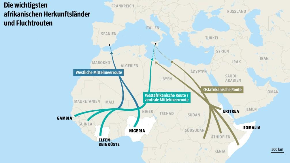 Top Die wichtigsten Fluchtrouten aus Afrika - Politik - Süddeutsche.de &DX_97