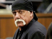 Terry Bollea, aka Hulk Hogan, sits in court during his trial against Gawker Media, in St Petersburg, Florida