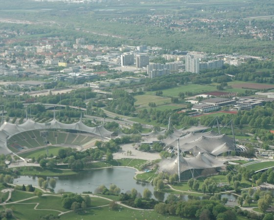 Luftbild München,Luftbild München Olympiapark