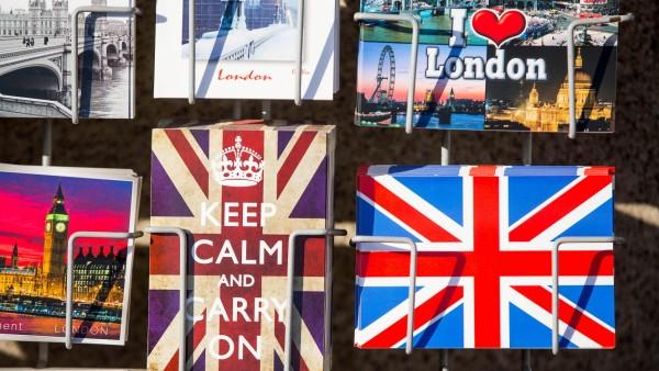 Postkartenständer in London