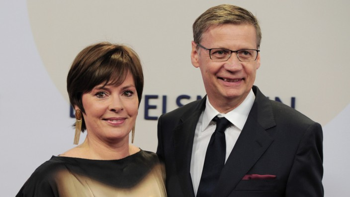 Moderator Günther Jauch und Ehefrau Thea