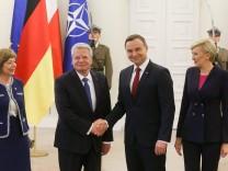 German President Joachim Gauck visits Poland