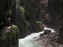 Die Partnachklamm in Garmisch-Partenkirchen ist ein beliebtes Ausflugsziel.