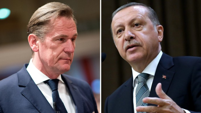 Mathias Döpfner und Recep Tayyip Erdogan