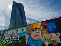 Graffiti-Kunst an der EZB