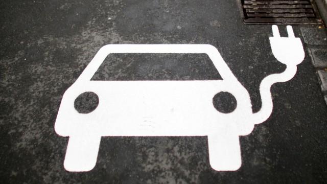 Parkplatz für Elektroautos