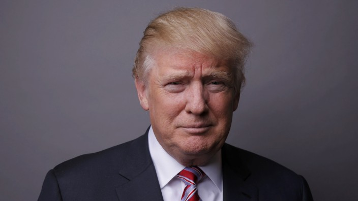 Republican U.S. presidential candidate Donald Trump poses for a photo in New York