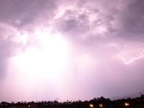Gewitter über Freiburg