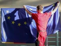 Gespräche nach Brexit - EU-Flagge