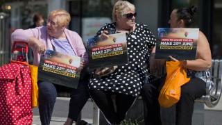 Brexit-Befürworterinnen in Clacton-on-Sea