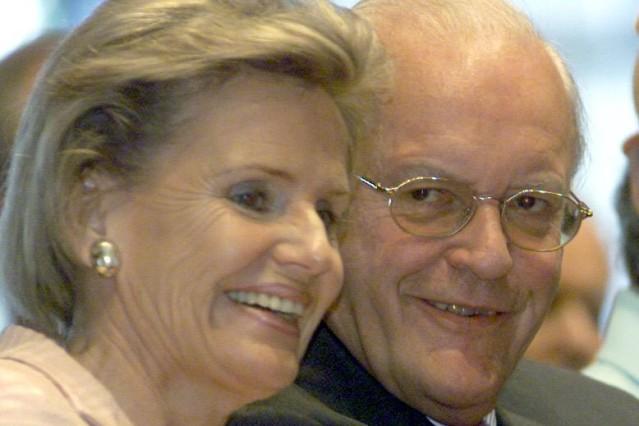 Roman Herzog mit Alexandra von Berlichingen, 2001