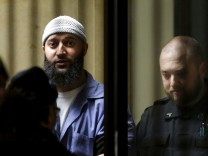 File photo of convicted murderer Adnan Syed leaving the Baltimore City Circuit Courthouse in Baltimore, Maryland