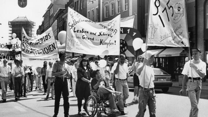 Demonstration während der Aids-Woche in München, 1990