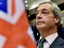 Farage, the leader of the UKIP, attends a plenary session at the European Parliament on the outcome of the 'Brexit' in Brussels