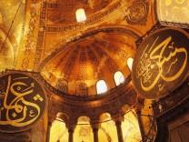 Art byzantin Vue de l interieur de la basilique Sainte Sophie Sainte Sophie ou Hagia Sofia Sophi
