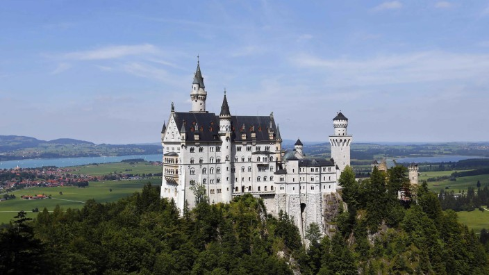 A south Bavarian castle Neuschwanstein is seen near Schwangau, file