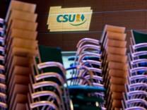 CSU-Parteitag - Aufbau