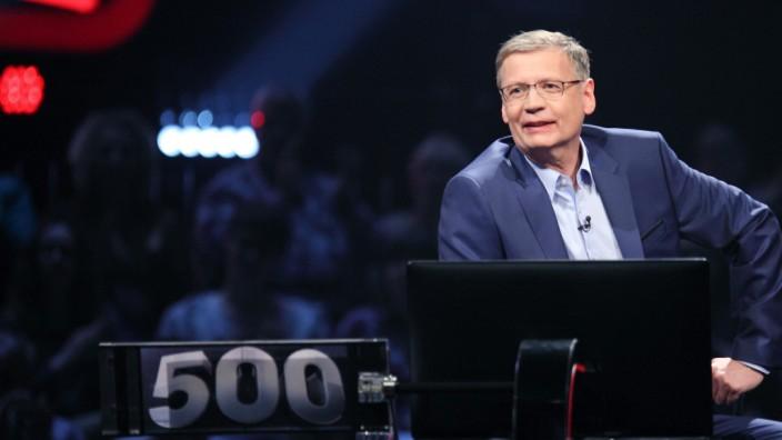 """Günther Jauch in der Sendung """"500 - Die Quiz-Arena"""""""