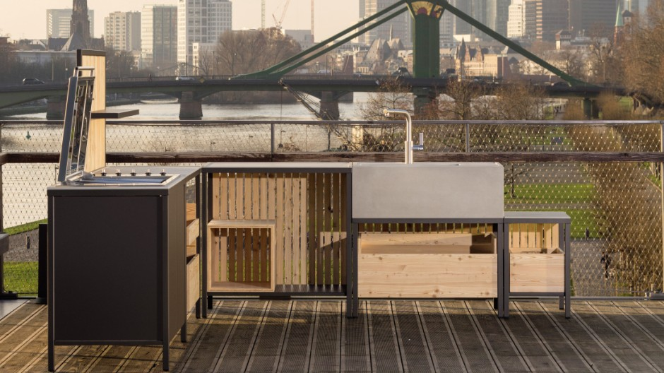 outdoor k che kugelgrill. Black Bedroom Furniture Sets. Home Design Ideas
