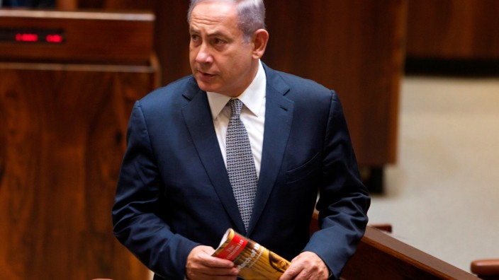 Israel's Prime Minister Netanyahu attends a session of the Knesset, the Israeli parliament, in Jerusalem