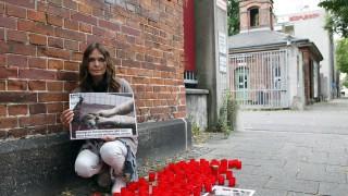 Mahnwache vor dem Münchner Schlachthof