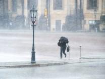Starkregen in Dresden