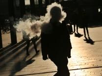 Rauch in der Morgensonne