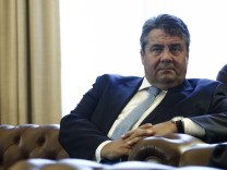 German Vice Chancellor and Economy Minister Sigmar Gabriel visits