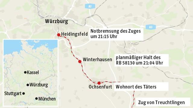 Angriff in Regionalzug bei Würzburg Anschlag auf Zugreisende