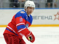 Russian President Putin takes part in gala game of the Night Ice Hockey League in Sochi