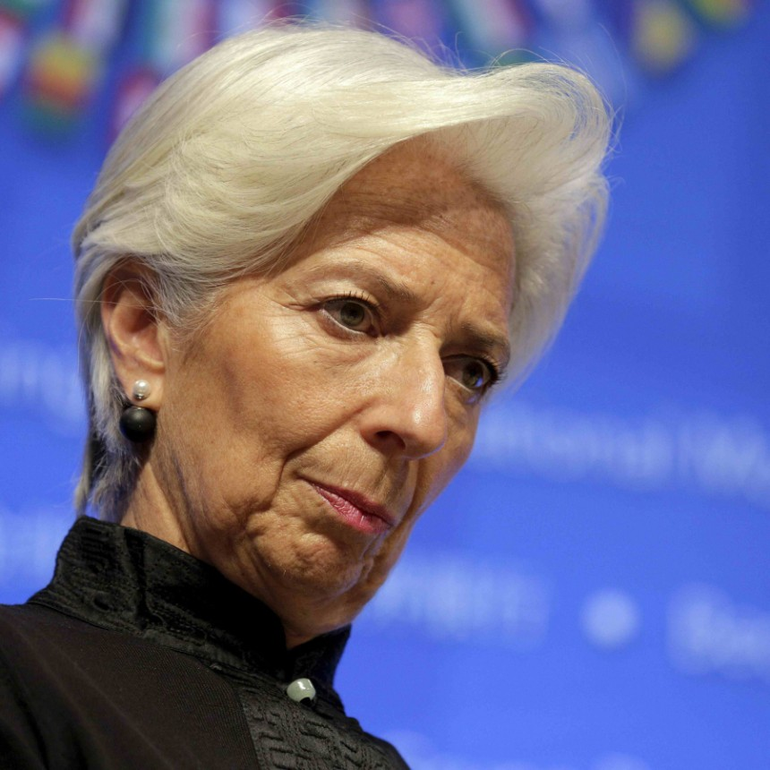 File photo of IMF Managing Director Christine Lagarde at the 2016 IMF World Bank Spring Meeting in Washington