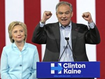 July 23 2016 Miami FL USA Virginia Sen Tim Kaine delivers a speech as vice presidential runn