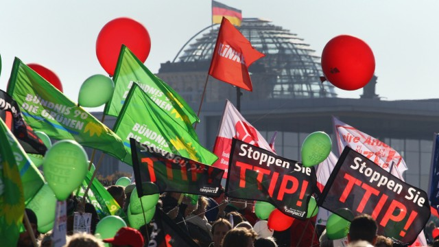 Demonstration gegen TTIP