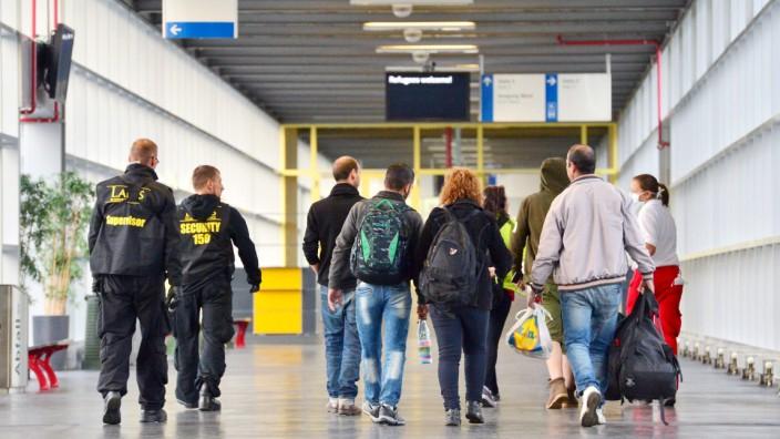 Ankunft Flüchtlinge in Erfurt