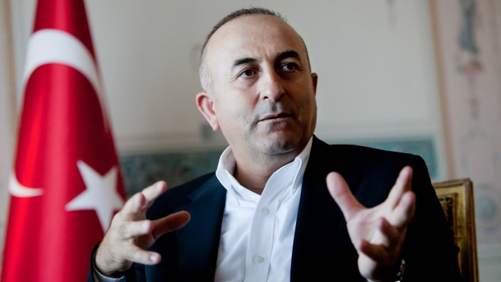 Mevlüt Cavusoglu Lisbon 26 07 2015 Interview with Minister of Foreign Affairs of Turkey Mevlüt Ca