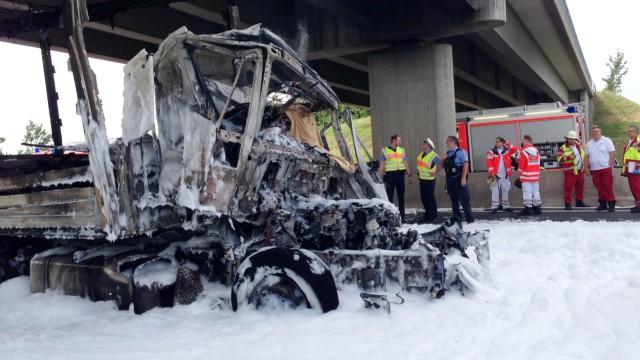 Unfall mit Lastwagen